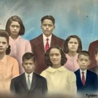 Familia Bordón Benítez: María,  Luis,  Joaquín,  Luis  Bordón,  Francisca  Benítez,  Eugenio, Pino,  Antonio,  Francisca,  Juan,  Tomás,  Chano  y  Pepe.